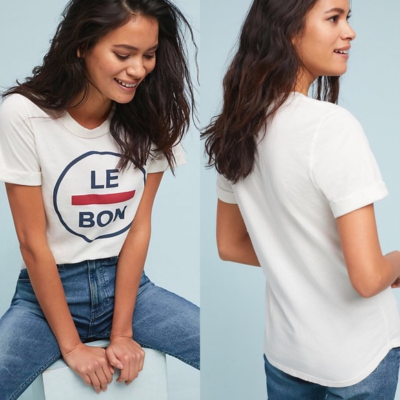 39ce8487b Anthropologie Tops - Anthropologie Sol Angeles Le Bon Graphic Tee